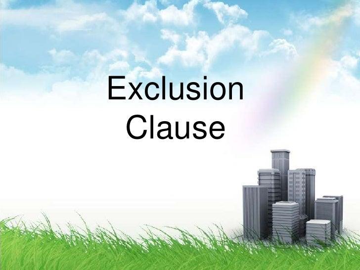 Ex-Clause