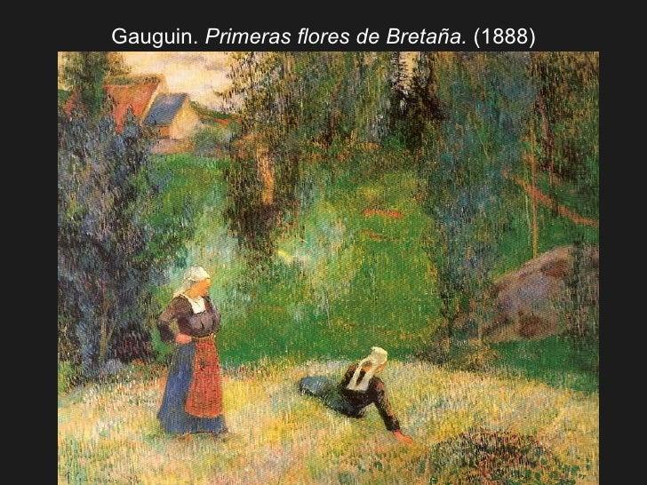 Gauguin.  Primeras flores de Bretaña.  (1888)