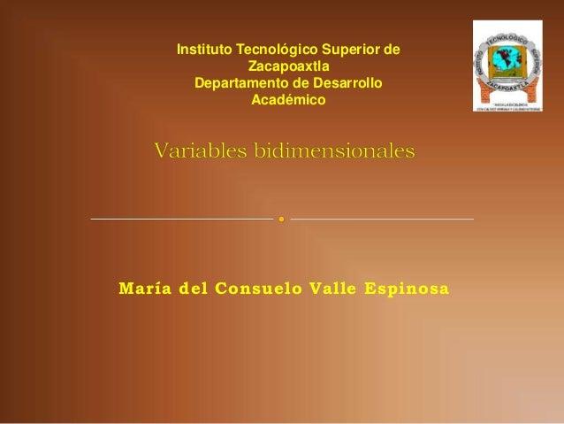 Instituto Tecnológico Superior de                 Zacapoaxtla        Departamento de Desarrollo                 AcadémicoM...
