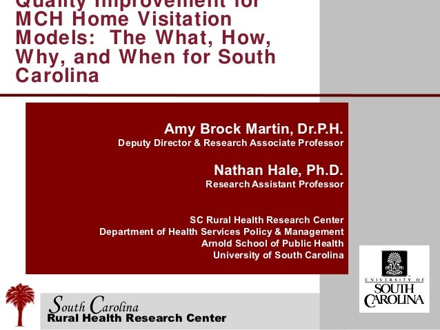 Quality Improvement forMCH Home VisitationModels: The What, How,Why, and When for SouthCarolina                      Amy B...