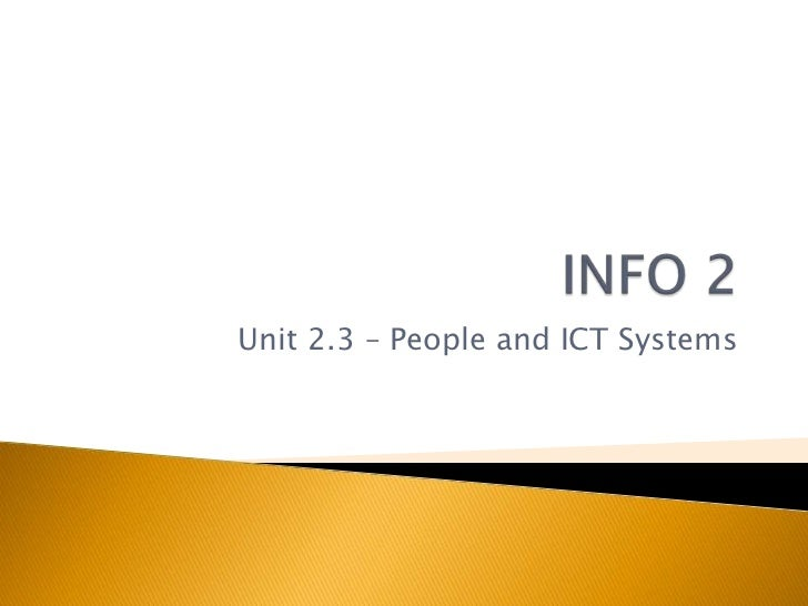 2.3 people and ict systems