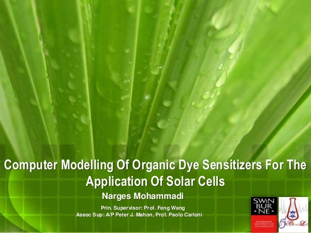 dye sensitized solar cells+phd thesis Design of high-efficiency dye-sensitized nanocrystalline solar cells a thesis submitted to the graduate school of natural and applied sciences.