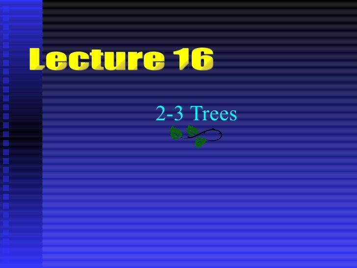 2 3 tree