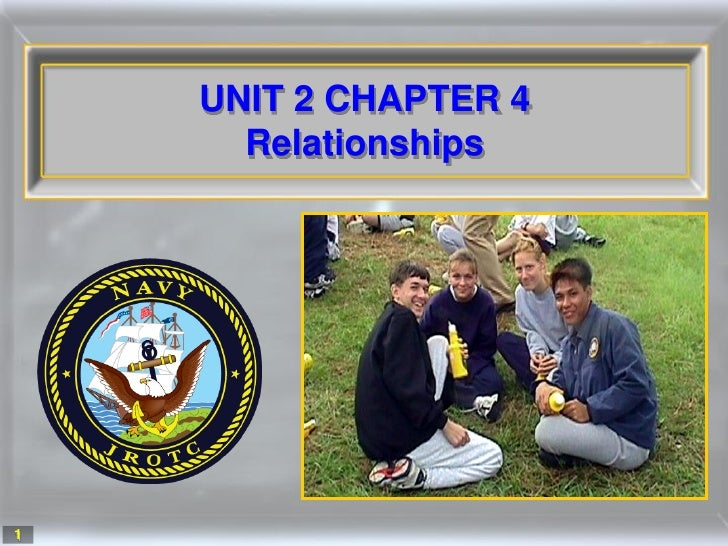 UNIT 2 CHAPTER 4       Relationships     1