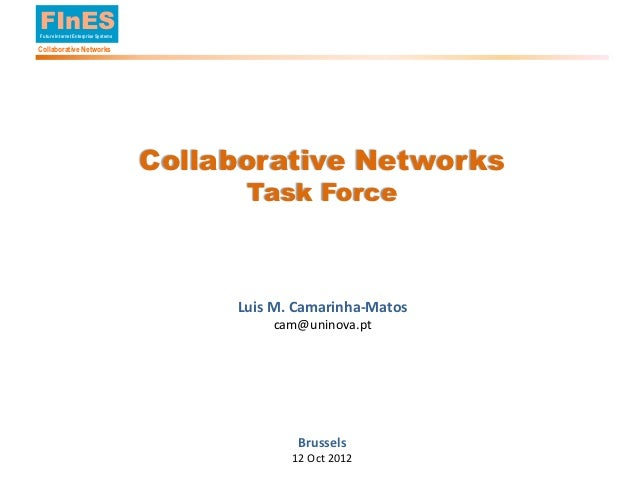 FInES        Future Internet Enterprise Systems        Collaborative Networks                                             ...