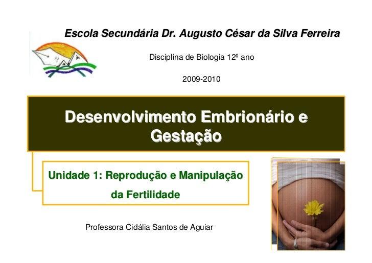 Escola Secundária Dr. Augusto César da Silva Ferreira                         Disciplina de Biologia 12º ano              ...