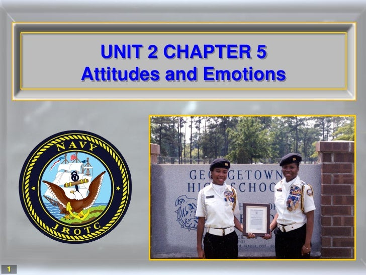 UNIT 2 CHAPTER 5     Attitudes and Emotions     1