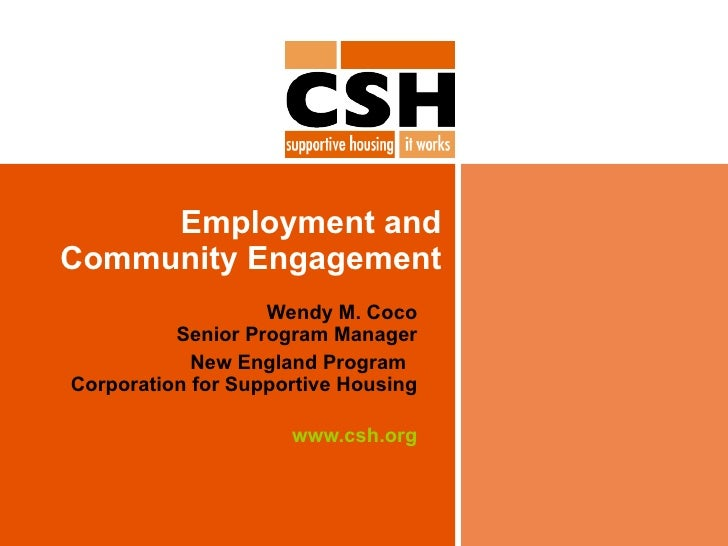 2.5 Employment and Community Engagement Strategies for Homeless People with Disabilities (Coco)