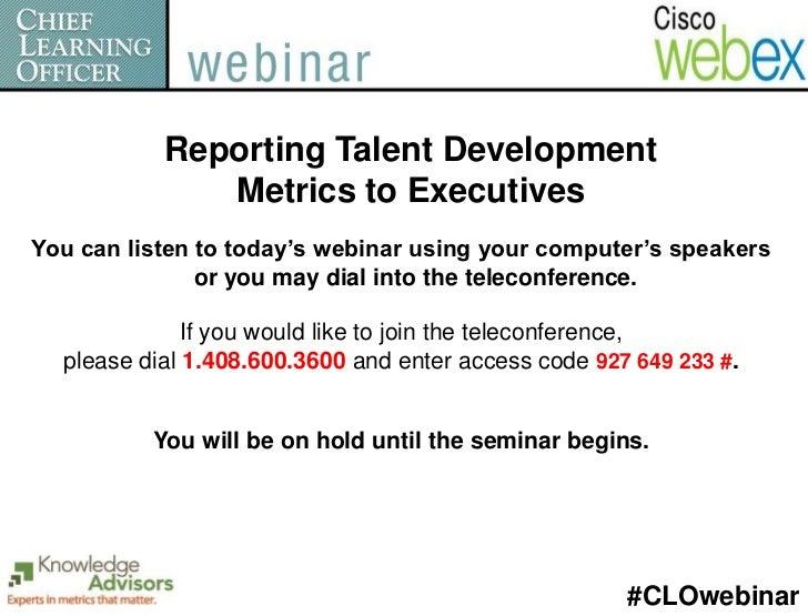 Reporting Talent Development Metrics to Executives