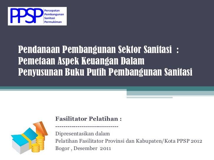 Pendanaan Pembangunan Sektor Sanitasi