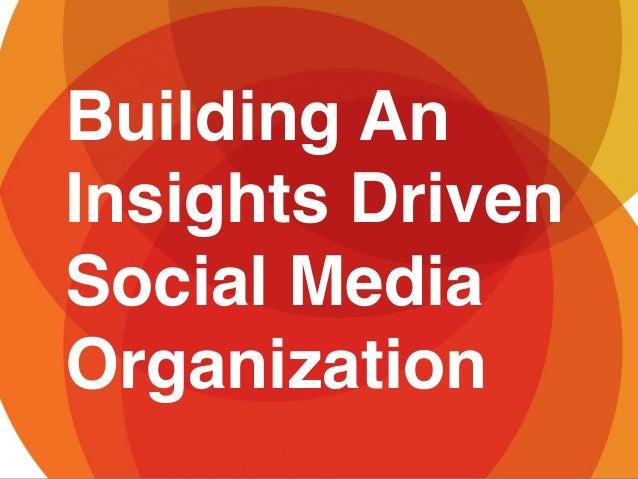 Building AnInsights DrivenSocial MediaOrganization