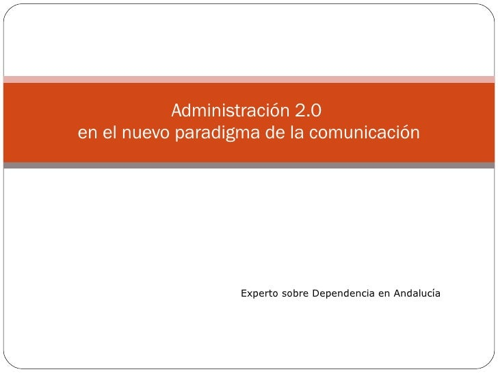 2. AdministracióN 2.0