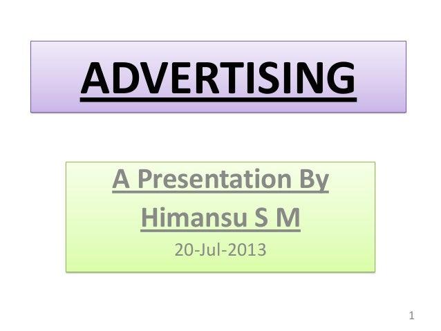 Marketing Communications - 2 - Advertising