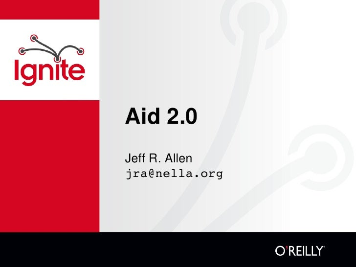 Aid 2.0: IT In Africa (Jeff Allen)