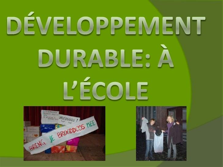 Le développement durable à l'école à Poperinge