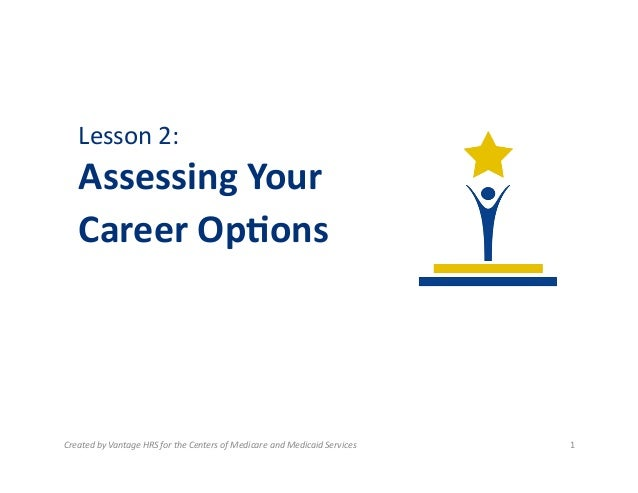 Lesson  2:      Assessing  Your     Career  Op0ons    Created  by  Vantage  HRS  for  the  Cen...