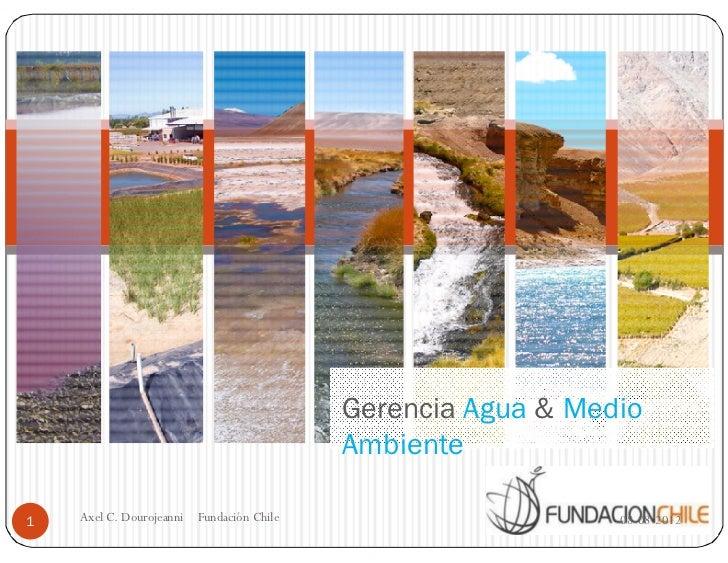 Gerencia Agua & Medio                                            Ambiente1   Axel C. Dourojeanni   Fundación Chile        ...