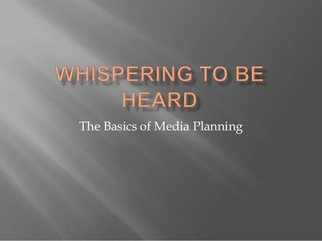 The Basics of Media Planning