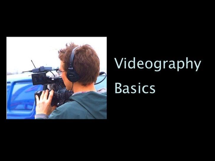 VideographyBasics