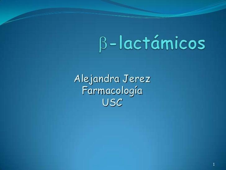 Alejandra Jerez Farmacología      USC                  1