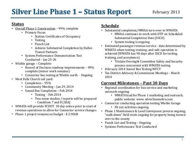 Silver Line Phase 1-Status Report: Feb. 4, 2014