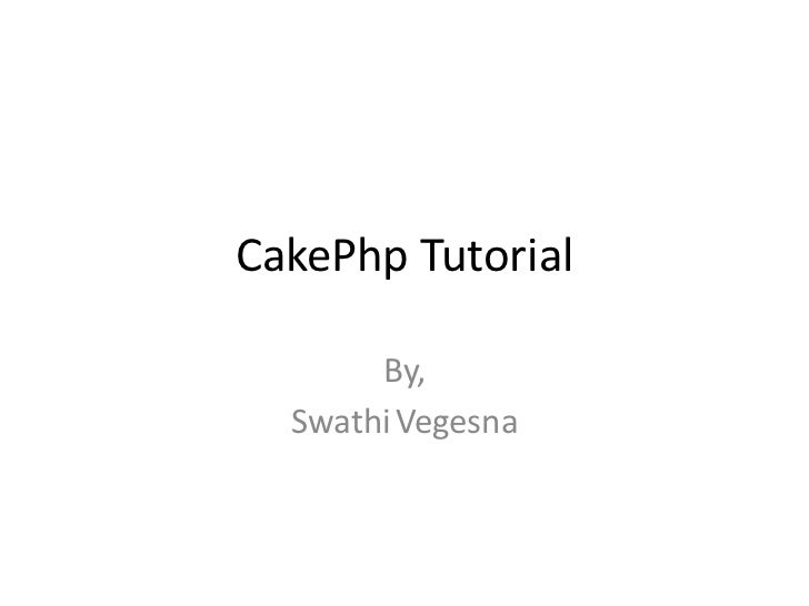 cake phptutorial