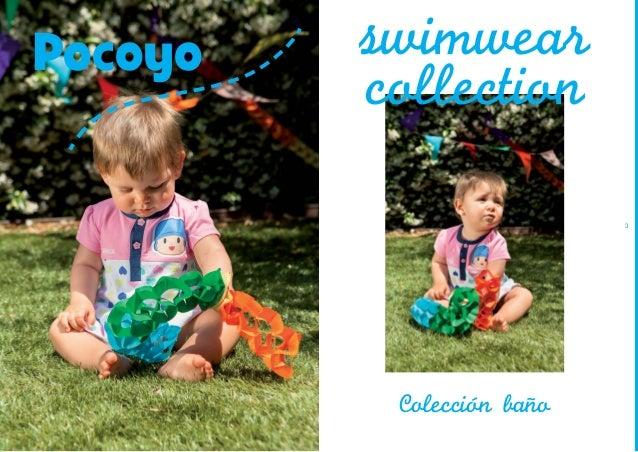 Pocoyo  swimwear collection  2  3  Coleccion bano