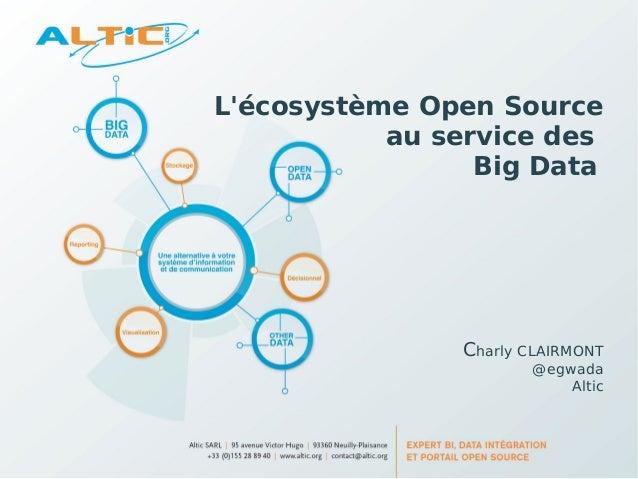 Lécosystème Open Source           au service des                 Big Data               Charly CLAIRMONT                  ...
