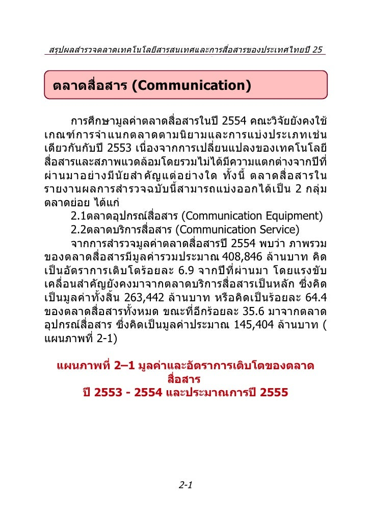 Report Thailand ICT Market 2011 and Outlook 2012