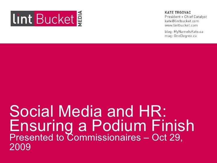Using Social Media to Support HR Functions