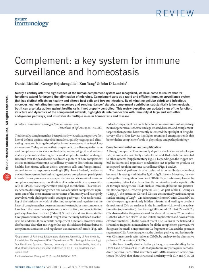 review                                                   Complement: a key system for immune                              ...