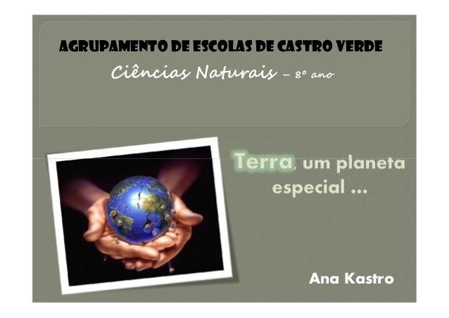 AGRUPAMENTO DE ESCOLAS DE CASTRO VERDE Ciências Naturais – 8º ano Ana Kastro