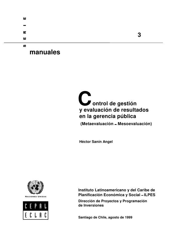 2. control de gestión y evaluación de resultados