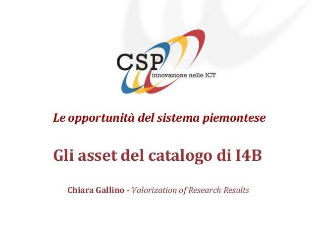 19 Luglio 2013 - Il Futuro della Televisione - Chiara Gallino - CSP