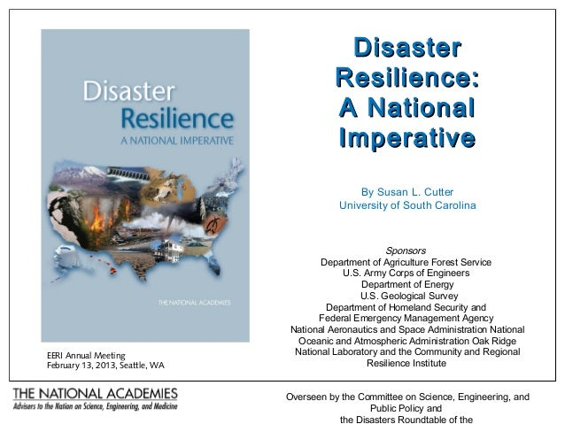 Disaster Resilience: A National Imperative - Susan Cutter