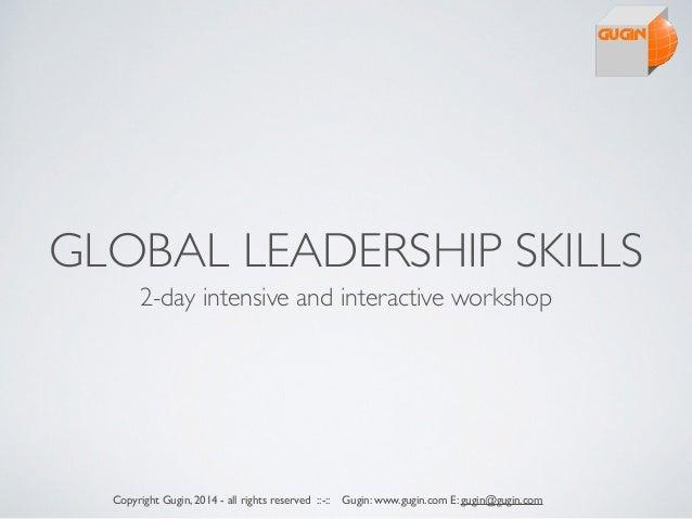 2 day global leadership workshop
