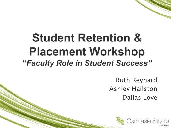 Student Retention Workshop