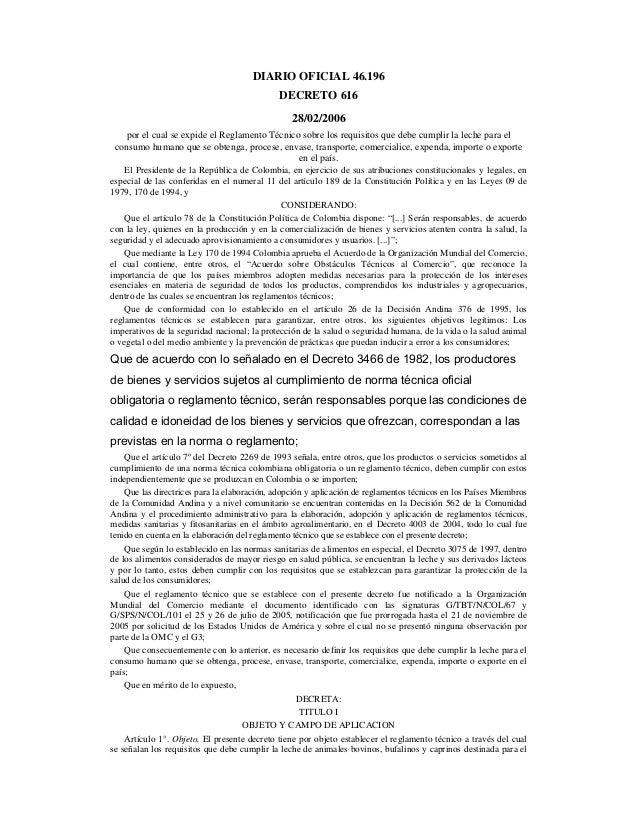 Fedegan_Animal_Ganadero_Leche_Normatividad_00616_Reglamento_Tecnico_Consumo_Humano