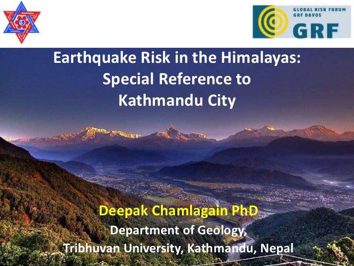 Disaster risk reduction in the Hindu Kush – Himalayan Region