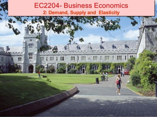 EC2204- Business Economics  2: Demand, Supply and Elasticity