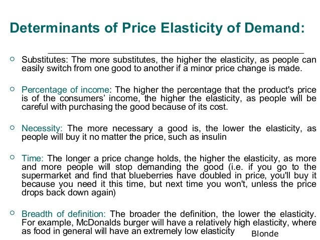 explain the concept of elasticity of demand economics essay The economics of demand - concept overview  an introduction to the concept of elasticity in economics all about the supply curve economics 101:.