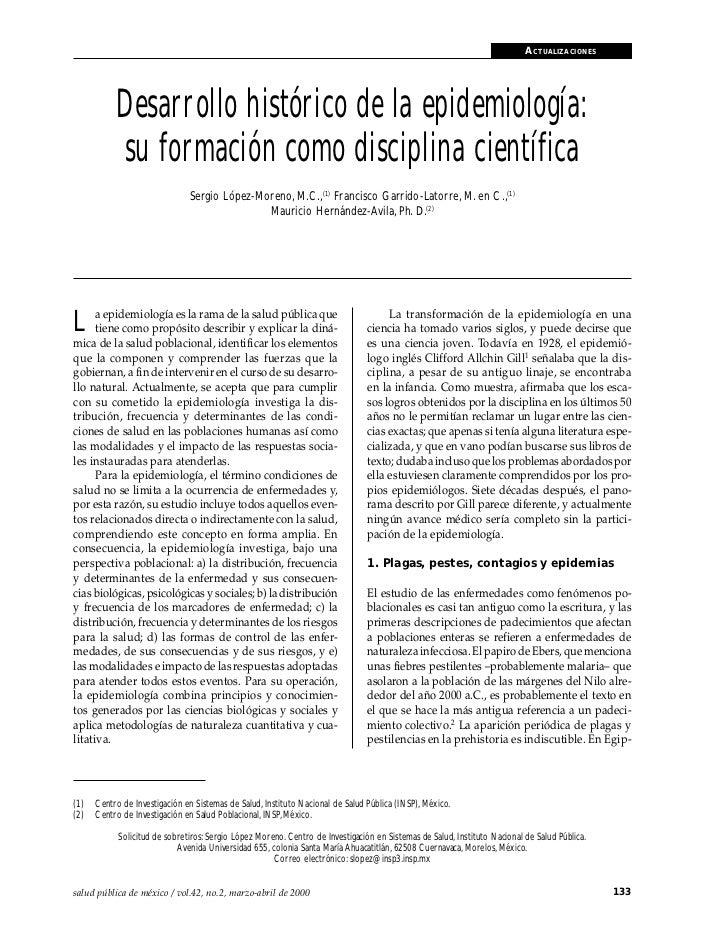 2. desarrollo histórico de la epidemiología