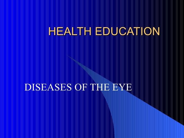 2. diseases of the eyes