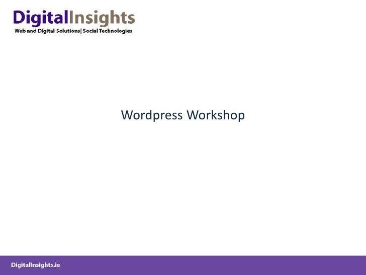 Wordpress Workshop<br />