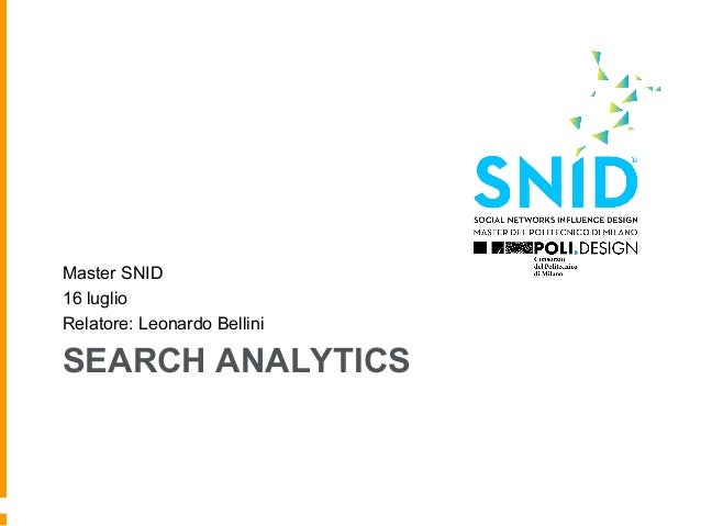 Search analytics