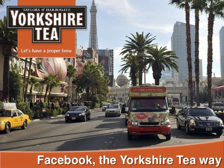 Facebook, the Yorkshire Tea way