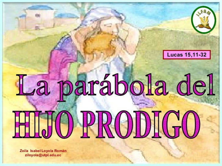 La parábola del  HIJO PRODIGO Lucas 15,11-32   Zoila  Isabel Loyola Román ziloyola @utpl.edu.ec