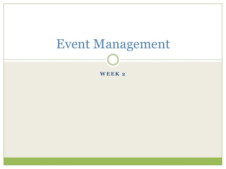 2. event management