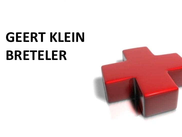 GEERT KLEINBRETELER