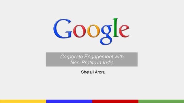 Corporate Engagement in India: Google India
